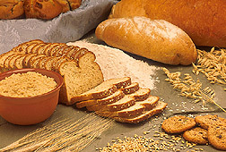 Photo: Breads, cereals and cookies made from barley and oats. Link to photo information
