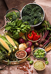 ORAC (oxygen radical absorbance capacity) scores of vegetables vary from plant to plant: Click here for photo caption.