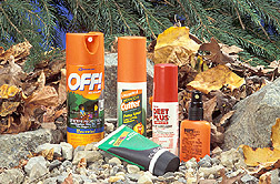 Insect repellants made from DEET: Click here for full photo caption.