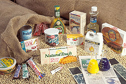 Grocery products made from soybeans: Click here for full photo caption.