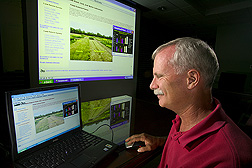 Agricultural economist uses the Potato Systems Planner: Click here for full photo caption.