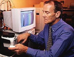 Chemist Landis Doner prepares corn fiber gum