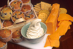 Other foods made with Fantesk including muffins, soft-serve ice cream and cheese:  Link to photo information