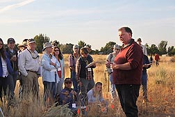 ARS ecologist Roger Sheley teaches the EBIPM decision process to attendees of the annual EBIPM Field School in 2010 in Boise, Idaho: Click here for photo caption.