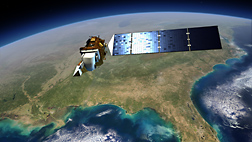 Artist's rendition of the Landsat Data Continuity Mission satellite, scheduled for launch in January 2013: Click here for full photo caption.