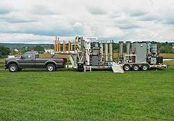 A mobile pyrolysis system. Link to photo information