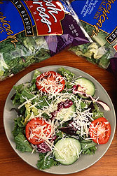 Bagged salad. Click here for full photo caption.