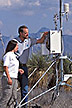 Technician and manager of Network site reset weather recording equipment.