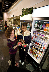 Choosing beverages and foods wisely can enhance your health. ARS nutrition research provides new, science-based information about the role of nutrition in helping prevent chronic diseases, including cancer, diabetes, cardiovascular disease—and more: Click here for photo caption.