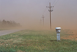 An ambient PM10 high-volume sampler in a west Texas dust storm: Click here for full photo caption.