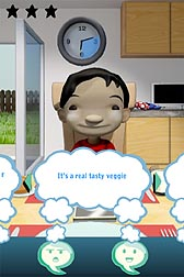 """Kiddio,"" an appealing character who doesn't like vegetables, stars in a fun, science-based video game that helps parents learn some of the best approaches for getting their preschool kids to eat more veggies: Click here for full photo caption."