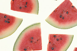 Watermelon slices: Click here for photo caption.