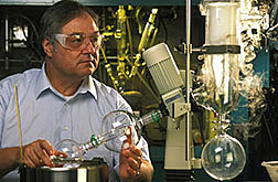 A chemist synthesizes a possible insect repellant