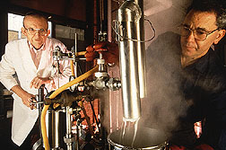 Chemists process starch and oil together in superheated steam under pressure to form Fantesk.