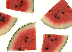 Photo: Watermelon slices. Link to photo information