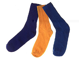 Photo: Three socks. Link to photo information
