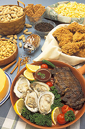 Foods and spices that contain zinc: Click here for full photo caption.