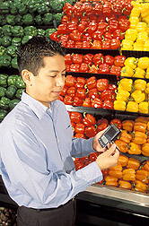 Nutritionist tests nutrient database program: Click here for full photo caption.