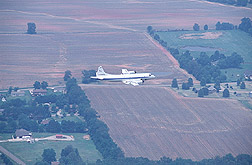 Photo: The NASA aircraft in flight over the Alabama study region. Link to photo information