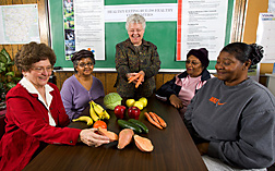 ARS nutritionists share healthy recipes with Marvell residents: Click here for full photo caption.