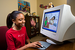 "The ""Food, Fun, and Fitness Internet Program for Girls"" uses lively, educational comic strips geared toward 8- to 10-year-old African-American girls to promote better food choices and physical activity: Click here for photo caption."