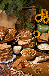 Based on USDA Food Patterns, depending on age range and calorie needs, people should be eating between 1.5 ounces to 5 ounces of whole grains daily: Click here for full photo caption.