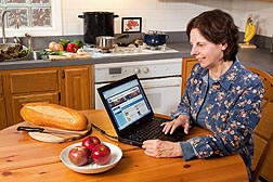 At home, school, or work, consumers can use USDA's free ChooseMyPlate.gov, an interactive website for creating a customized healthy dietary plan that includes required daily vitamins and minerals, and age- and gender-appropriate daily portions and calorie levels: Click here for full photo caption.