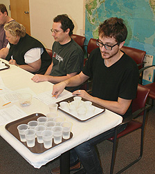 Taste-testers help identify key aspects of avocado flavor: Click here for full photo caption.