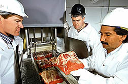 Researchers inject beef with a solution of food-grade calcium chloride. Click here for full photo caption.