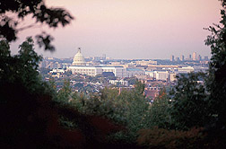 Photo: View of U.S. Capitol and surrounding area photographed from the arboretum. Link to photo information