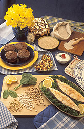 Photo: Various foods that contain magnesium. Link to photo information