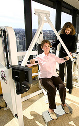 Photo: Older woman exercising. Link to photo information