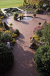 Overhead view of the entrance to the National Herb Garden. Link to photo information
