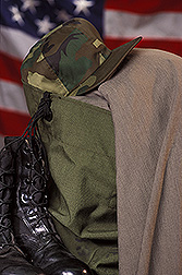 Military garments made with wool: Link to photo information