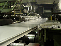 Aluminum rolling mill operation: Click here for full photo caption.