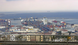 Port facilities in Algiers: Click here for photo caption.