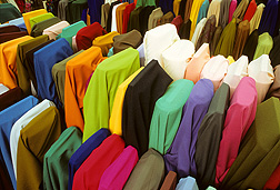 Wash-and-wear and flame-retardant cotton fabrics: Click here for full photo caption.