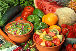Fresh fruits and vegetables: Click here for full photo caption.