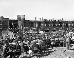 The cornerstone-laying ceremony, October 27, 1939, for the Western Regional Research Center (WRRC), in Albany, California: Click here for full photo caption.