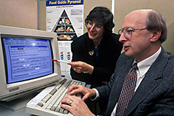 Researchers review the National Nutrient Database for the Child Nutrition Program. Click here for full photo caption.