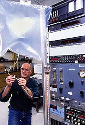 Technician Eldon Shetler
