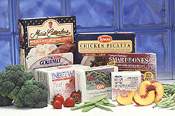 Frozen food packages: Click here for full photo caption.