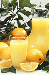 Oranges and orange juice: Click here for full photo caption.