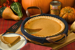 Pumpkin pie and various squashes: Click here for photo caption.