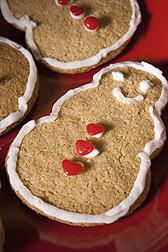 Holiday cut-out cookies made with healthier whole-grain wheat flour: Click here for photo caption.