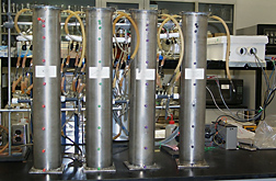 Stainless steel columns used in lab studies. Link to photo information