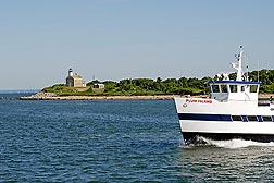 The MS Plum Island makes the crossing between New York's Orient Point and Plum Island several times a day, carrying passengers and cargo as part of normal Plum Island Animal Disease Center operations: Click here for full photo caption.