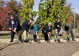 """Groundbreaking ceremony November 15, 2013, at the U.S. National Arboretum (USNA) for the """"Grass Roots� exhibit."""