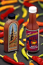 Charleston Hot peppers and two new hot sauces. Click here for full photo caption.