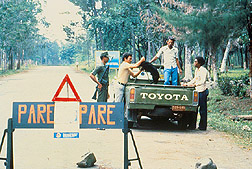 ASF checkpoint on road in Dominican Republic
